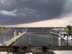 A storms a brewin'! Thanks @jnaar  for the pic. #fishhousepensacola #pensacolabay #storm #cloudporn