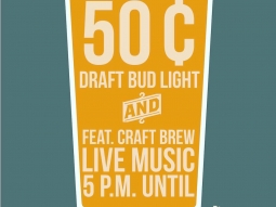 Monday Madness starts TONIGHT!!!! 50¢ Draft Bud Light • 50¢ featured Craft Beer • Live Music • The Fish House Deck