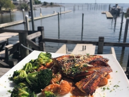 Start your weekend now with lunch at the Fish House! Our special today is blackened mahi over fried potato gnocchi tossed in tomato basil cream sauce served with garlic roasted broccoli and finished with freshly grated parmesan cheese. #fishhousepensacola #downtownpensacola #upsideofflorida