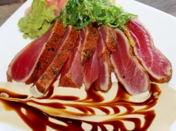Get out of the rain and come have lunch with us! Try one of our favorites- Rim Tuna!